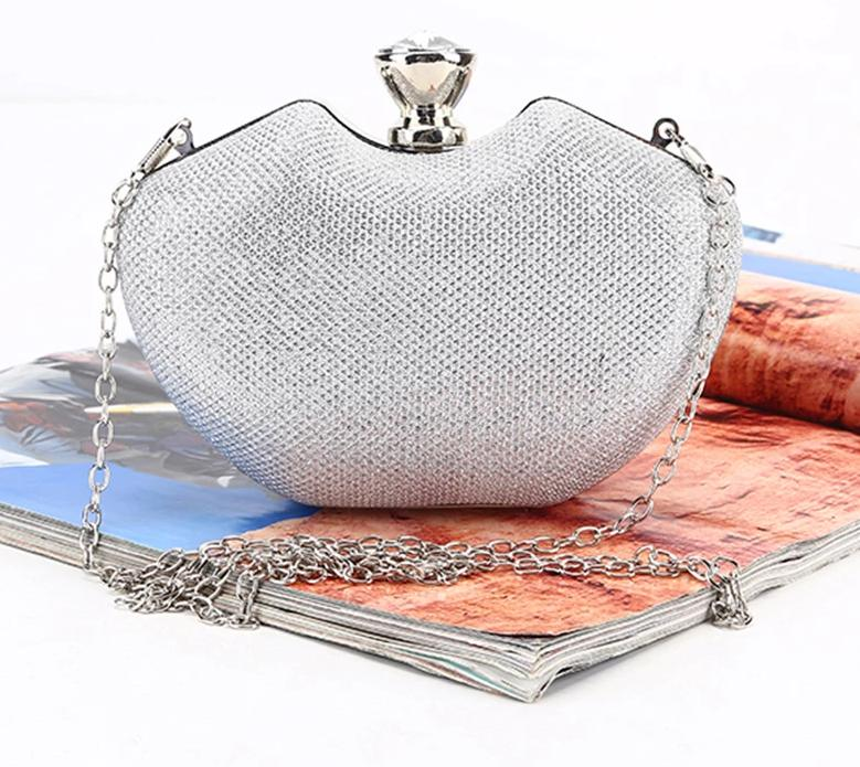 Rhinestone Single Chain Bride Wedding Fashion  Day Clutch