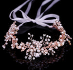 Rose Gold Leaf Headband Baroque Bridal Hairband Headpiece Hair Accessories