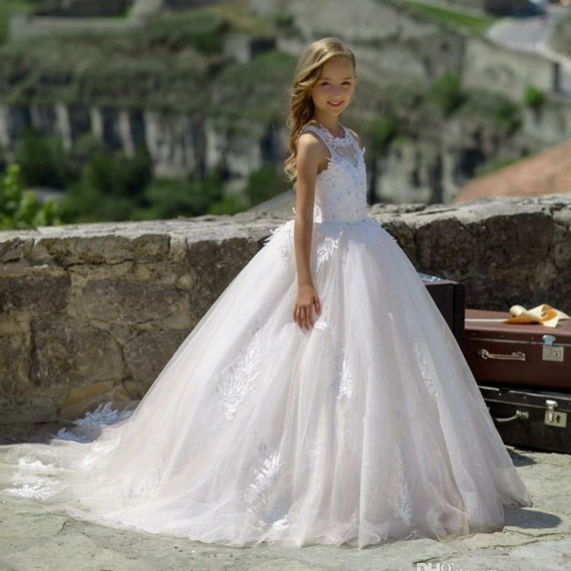 Flower Girls Dress for Wedding Kids Pageant Dress First Holy Communion Dress