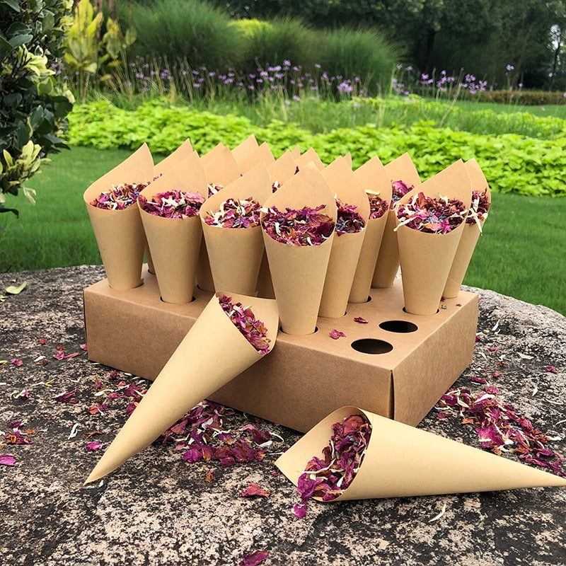 Natural Biodegradable Confetti Dried Rose Flower Petals Wedding Birthday Party Decoration