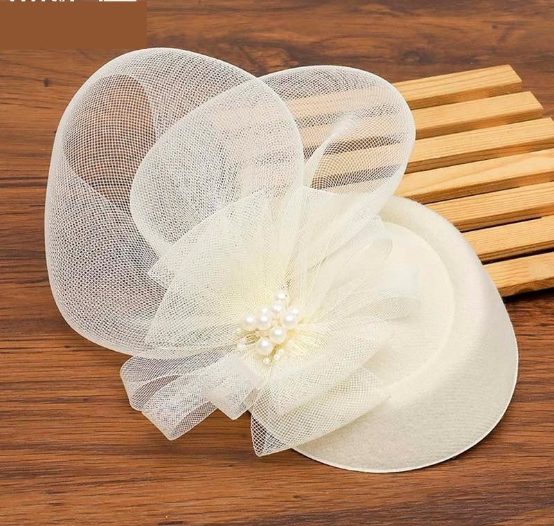 Chic Fascinator Hat Cocktail Wedding Party Church Headpiece Fashion Headwear Accessories Bride