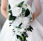 Waterfall Wedding Bouquet Bridesmaid  Vintage Rose Flower Luxurious Bouquet