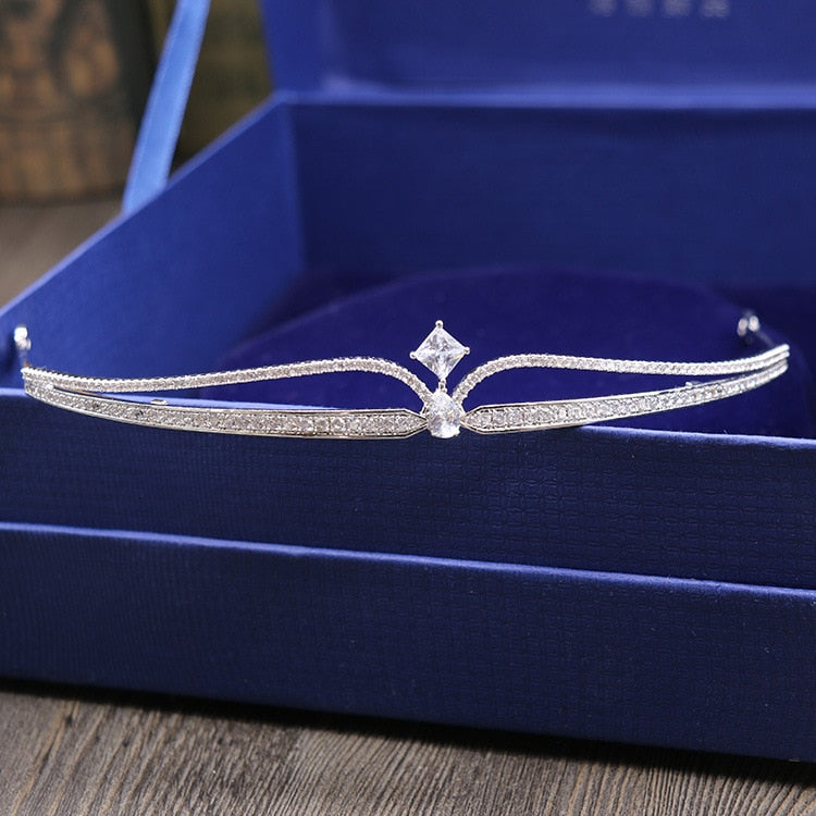 Cubic Zirconia Wedding Tiara Bridal