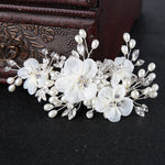 Silk Flower Hair Clip Bridal Hairpin  Wedding Hair Accessories Bride Hair Ornaments