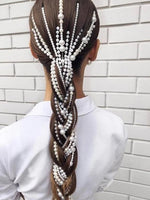 Simulated Pearl Long Tassel/Chain Bridal Wedding Hair Accessories