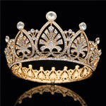 Baroque Bridal Crown Headdress Tiaras  Bride Wedding Hair Accessories - TulleLux Bridal Crowns &  Accessories