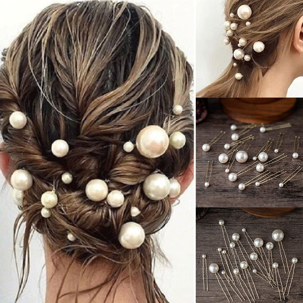 20 Piece U-shaped Pearl Hair Pins Wedding Hairstyle Accessory