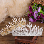 Retro Vintage Luxury Pearl Crystal Tiara Wedding Hair Accessory