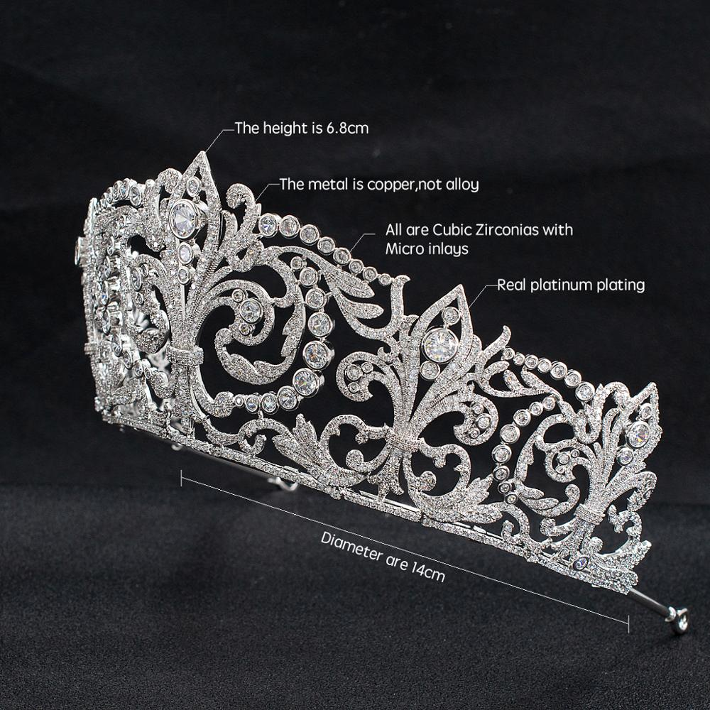 Classic Micro Inlaid Cubic Zirconia Princess Bridal Wedding Tiara Crown - TulleLux Bridal Crowns &  Accessories