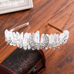 Moon Crystal Headband Rock Crystal Crown Comb Hair Band Bridal  Wedding Hair Accessories