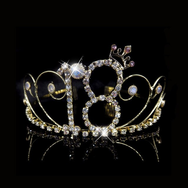 16/18 Years Birthday Crystal Tiaras and Crowns HairBands Girls Party Hair Accessories Princess Hair Jewelry