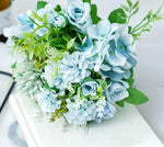 Blooming Hydrangea Rose Peony Artificial Flower Wedding Bouquet