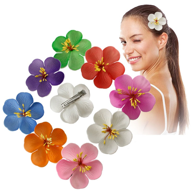 50 Piece Hawaiian Cherry Blossom Hair Clips  BarrettesAccessories