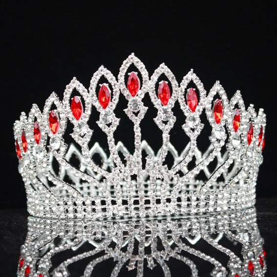 Luxurious Sparkling Crystal Baroque Queen King Tiara Crown Pageant Prom Bridal Hair Jewelry