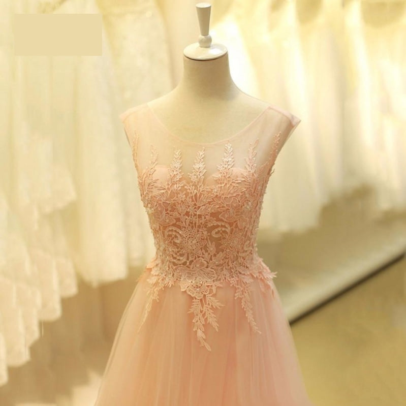 Tulle Lace Prom Dress Bare Back Party Dress - TulleLux Bridal Crowns &  Accessories