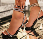 Summer sandals cup high heels shoes bling rhinestone strap gladiator sandals elegant party wedding shoes