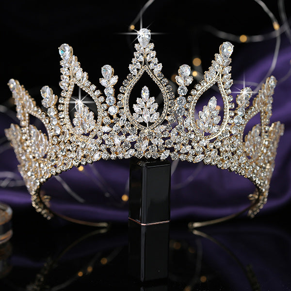 Trendy Queen 's Cubic Zirconia Tiara  Crown