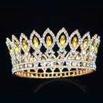 Gold Queen Bridal Tiara Crowns  Wedding  Accessories