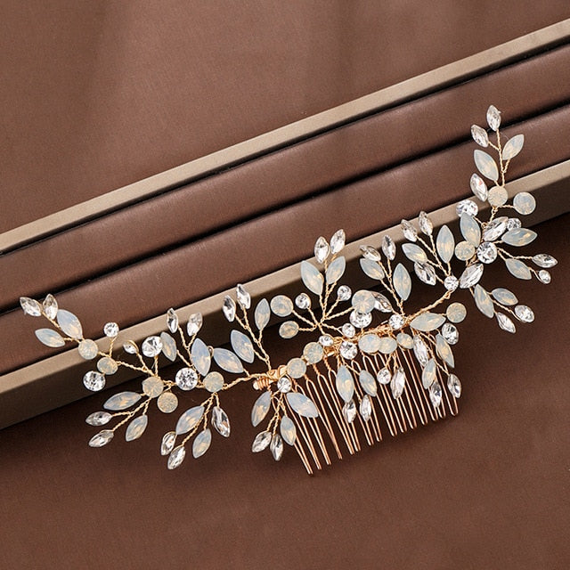 Handmade Bridal Hair Clip, Comb, Vine Headband Wedding Hair Accessories