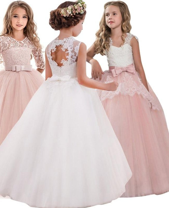 Children Elegant Evening Party Princess Dress For Flower Girls