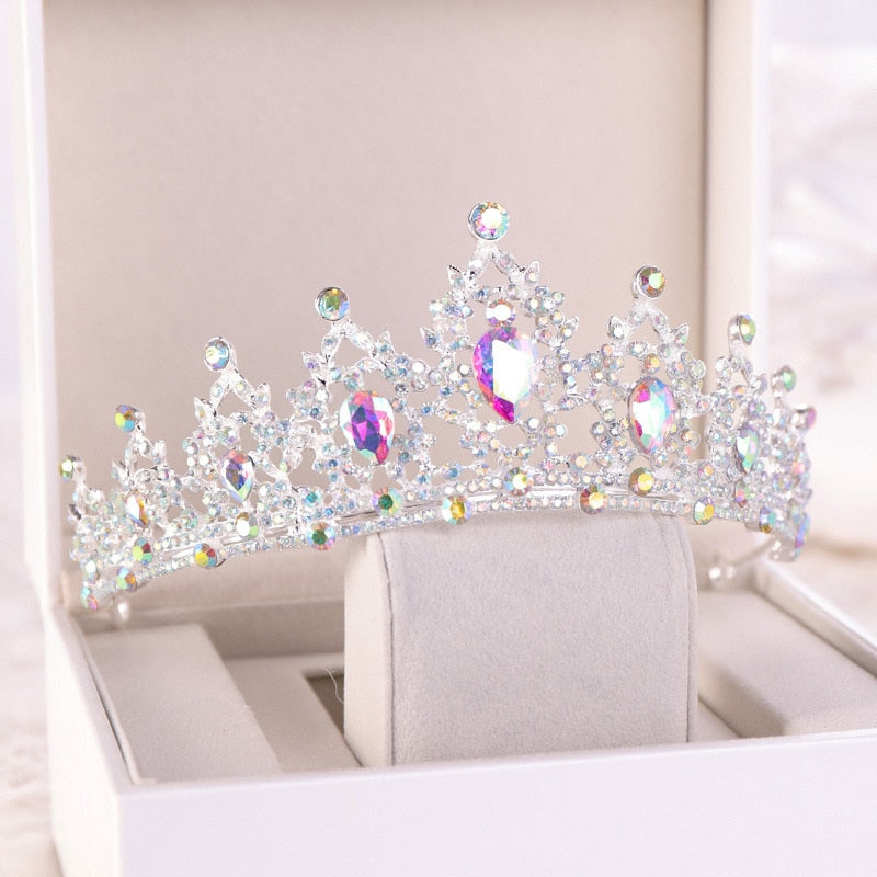 Wedding Birthday Prom  Pageant Tiara  Princess Crystal Crown - TulleLux Bridal Crowns &  Accessories