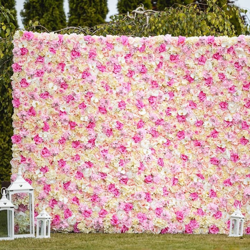 Silk Rose Flower Wall  Wedding Photography Backdrop