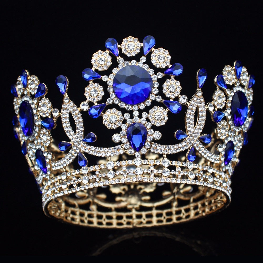 Large Crystal Wedding Bridal Tiara Crown Bride  Diadem Accessories