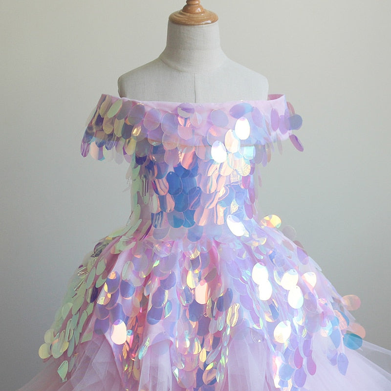 Princess Girl's Birthday Party Dress Flower Girl Dress Pageant  Ball Gown