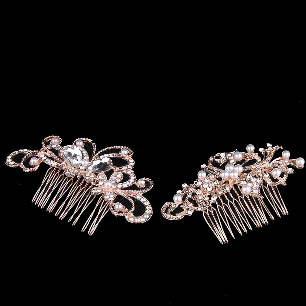 Pearl Hair Combs Prom Bridal Wedding  Elegant Hair Accessories
