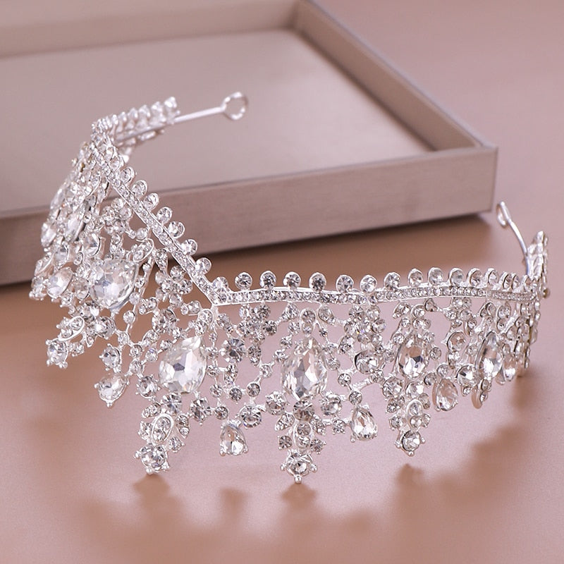 Luxury Crystal Rhinestone Bridal Crown Wedding Tiara