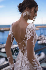 Sexy Backless Lace Mermaid Wedding Gown