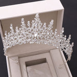 Crystal Rhinestone Crown Tiaras Wedding Hair Muti Colors