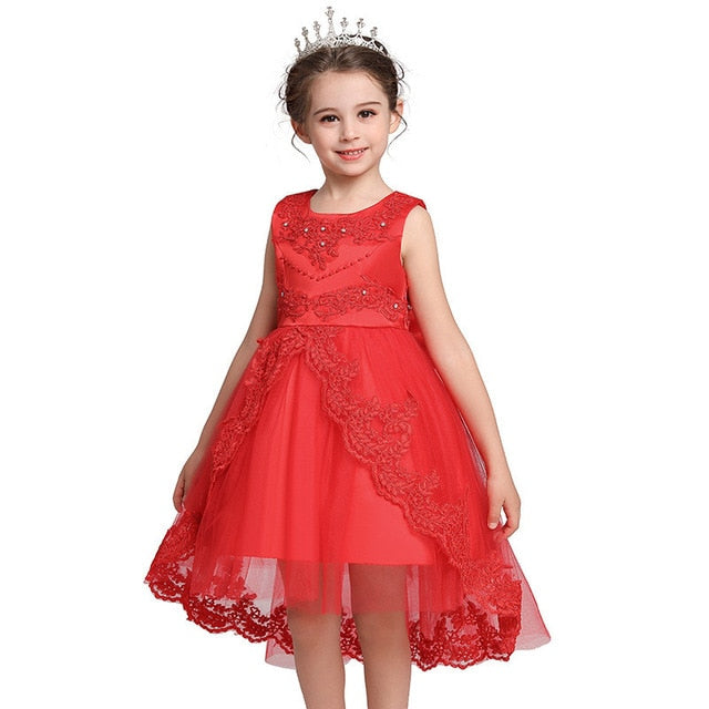 Flower Girl Dress with Front Beading Princess Style Short Dress