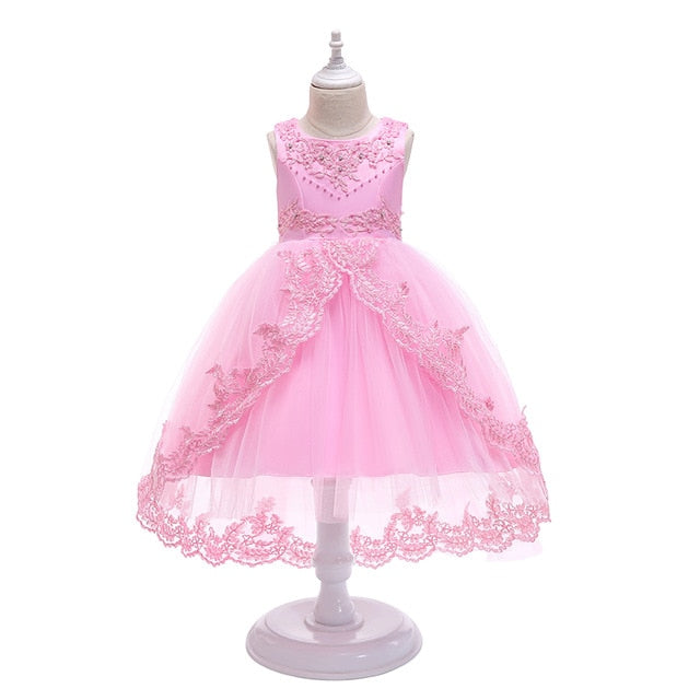 Girls Elegant Evening Party Dress Princess Ball Gown Dress