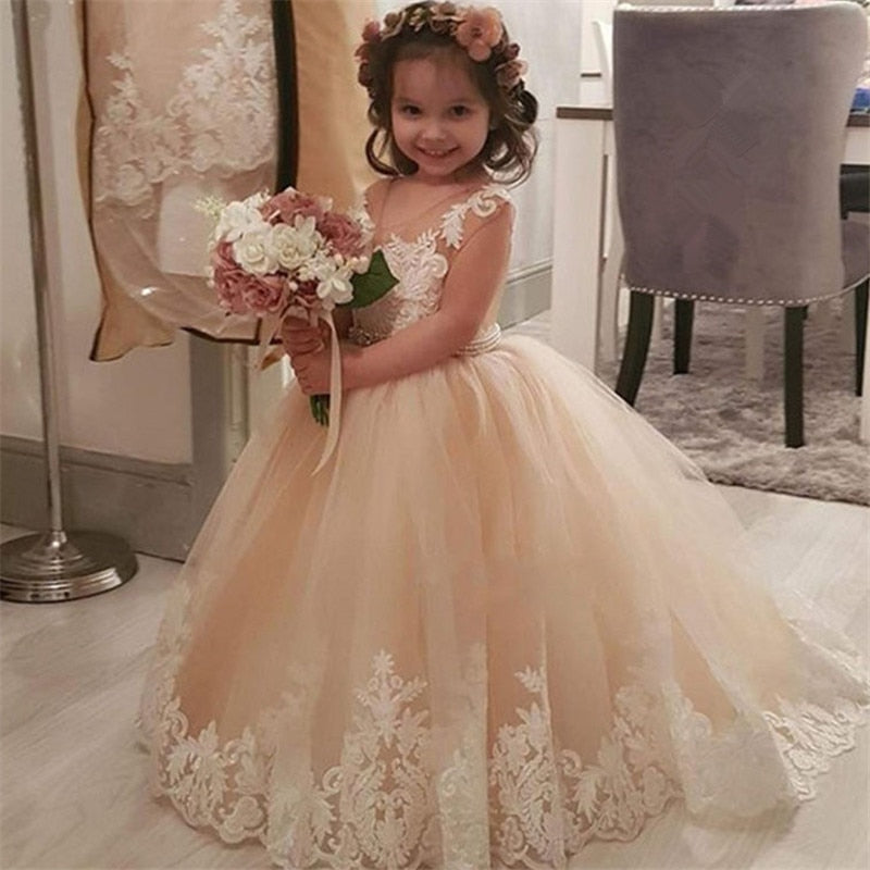 Flower Girl Dresses Wedding Baby Bridesmaid Birthday Communion Pageant Princess