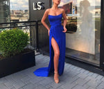Mermaid Evening Dress Side Slit Party Dress Robe De Soiree