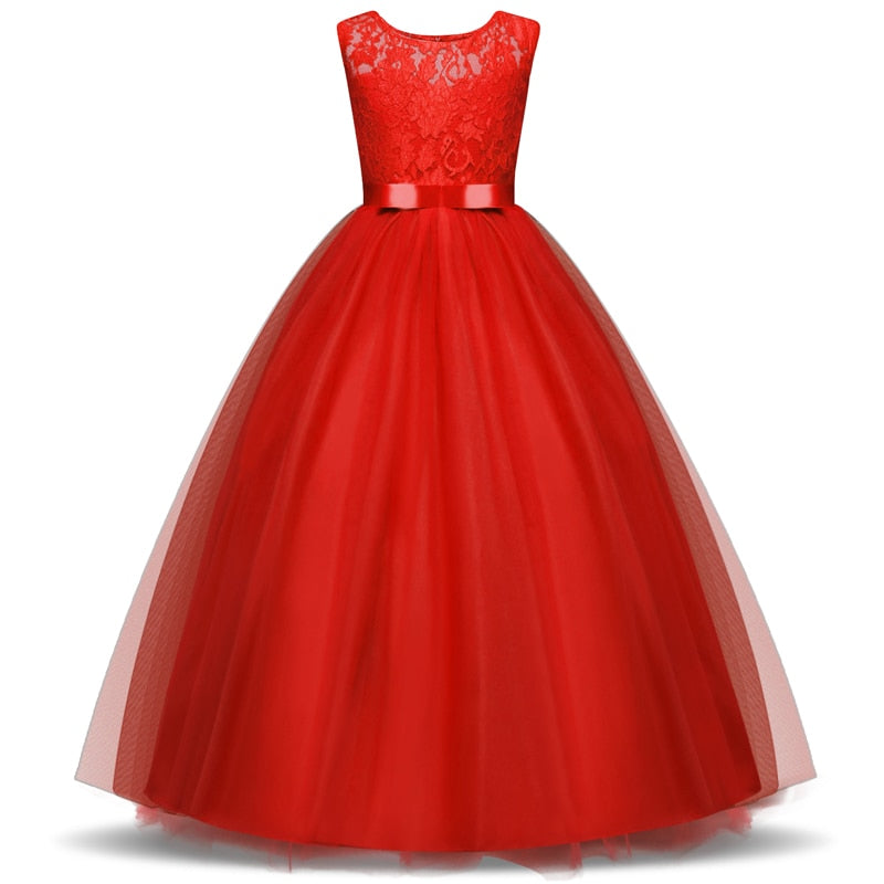 Girls Wedding Party Flower Girl Dress Princess Gowns Tulle Evening Dresses