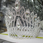 Large  Luxury Crystal Pageant Tiara Crown Hair Accessory - TulleLux Bridal Crowns &  Accessories