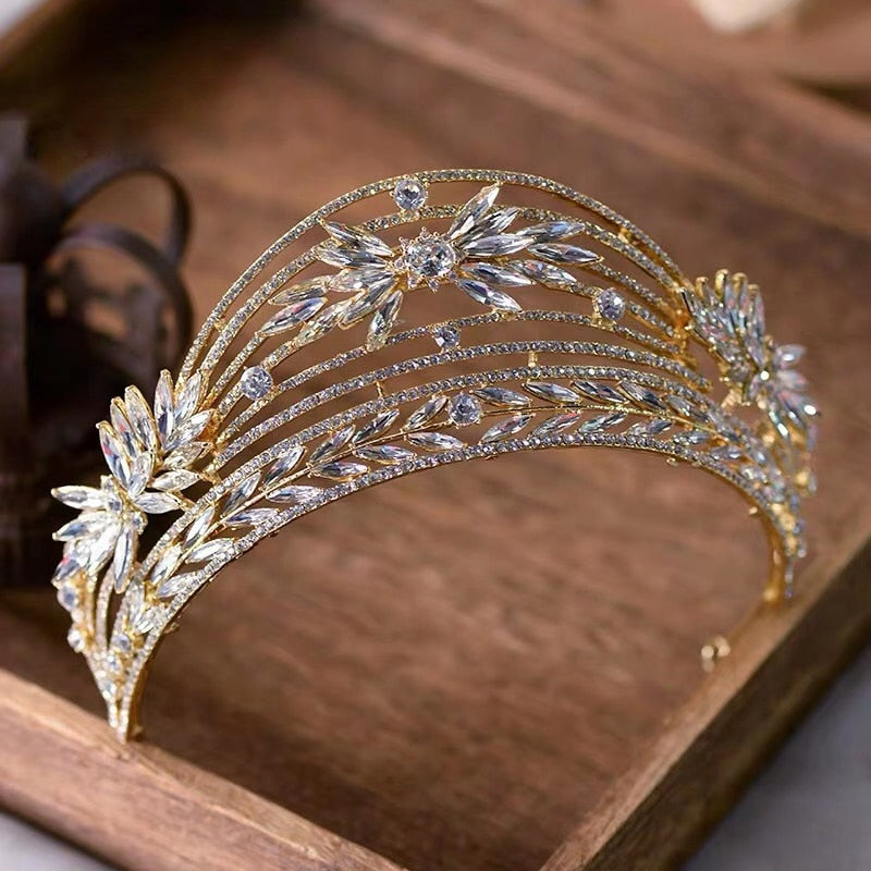 Princess Baroque Wedding Tiara Crown Bridal Hair Accessory - TulleLux Bridal Crowns &  Accessories