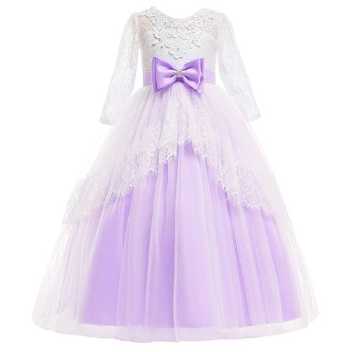 Princess Lace Flower Girl  Pageant First Communion Dresses - 3 Colors
