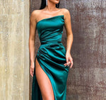 Sexy Satin Side Split Evening Dress