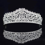 Rose Gold Silver Bridal Princess Crystal Bridal Crown - TulleLux Bridal Crowns &  Accessories