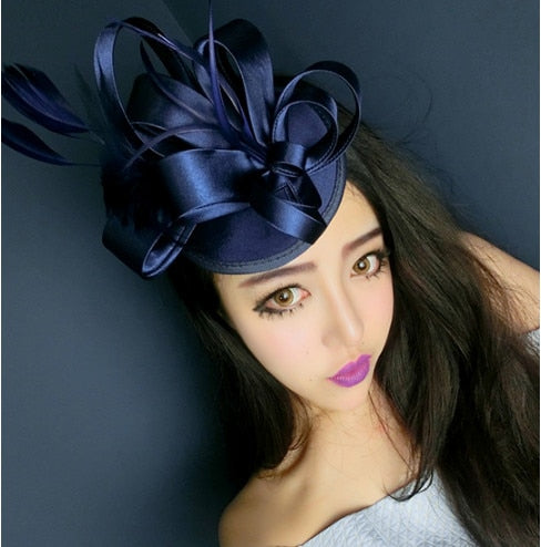 Fashion Ladies Royal Fascinator Bridal Feather