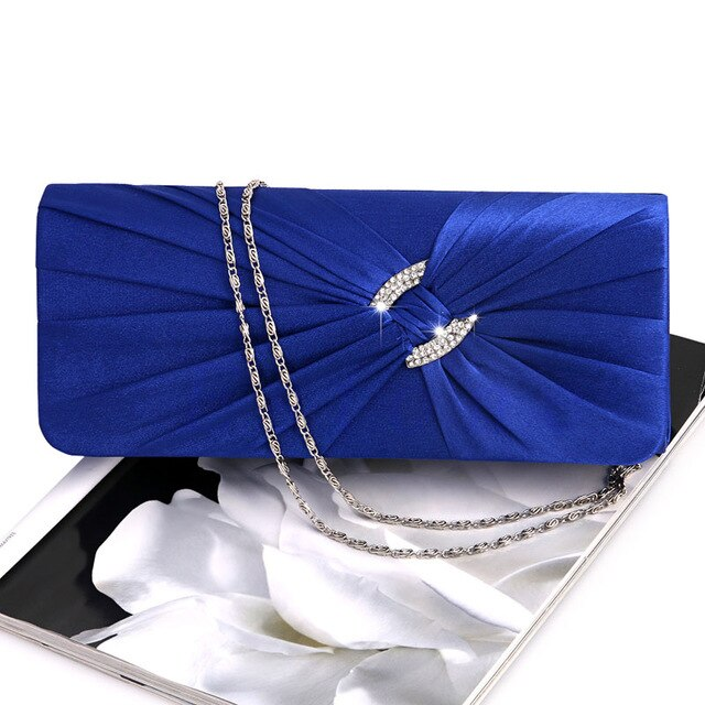 Formal Shoulder Clutch Bag Bling Rhinestone Chain Evening  Purse