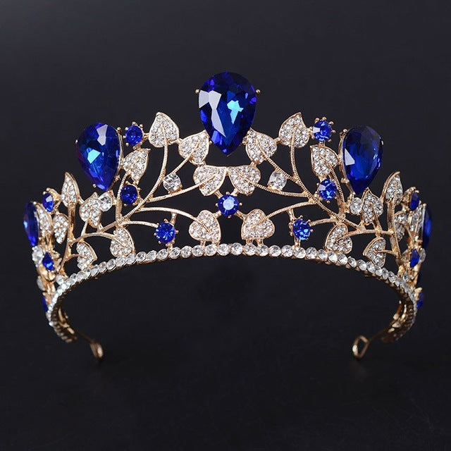 Magnificent Rhinestone Bridal Crown Tiaras Fashion Golden Diadem  Wedding Hair Accessories