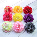 Fabric Peony Flower Wedding Party Hair Accessory