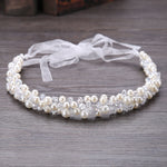 Crystal Bridal Headband Tiara Crown Wedding Hair Accessories Elegant Headpiece Pearls Hair Jewelry
