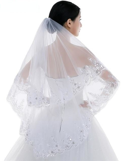 Tulle Bridal Veil with Comb