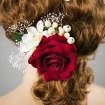 Rose Flower Hair Clip Hairpins Wedding Decoration Hair Accessory