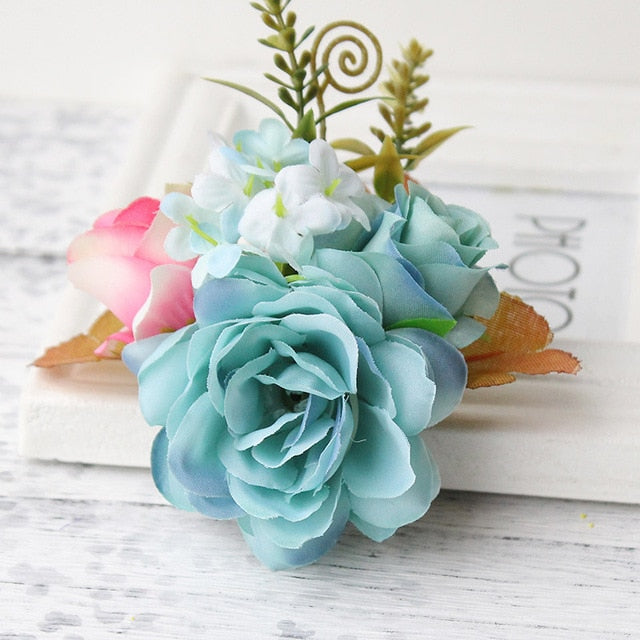 Rose Bridal Flower Hair Clip Wedding Decoration Hair Accessory